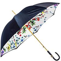 Синий зонт-трость Pasotti с декором на ручке, фото