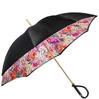 Черный зонт-трость Pasotti с ручкой в форме петли, фото
