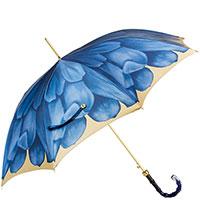 Зонт-трость Pasotti с принтом-георгиной, фото
