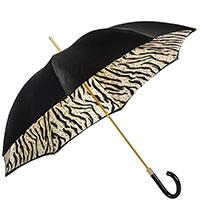 Черный зонт-трость Pasotti с животным принтом внутри, фото