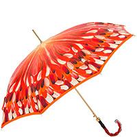 Зонт-трость Pasotti красного цвета с принтом, фото