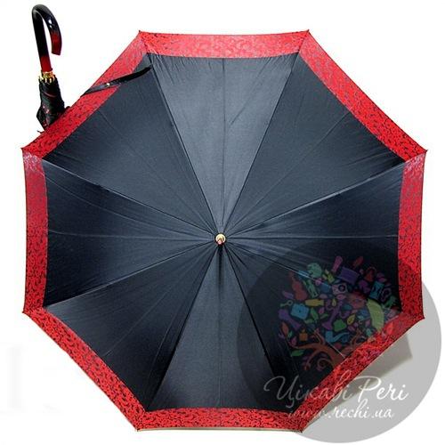 Зонт-трость Doppler с красным кантом в 3 сложения на 8 спиц, фото