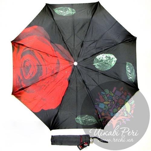 Зонт-автомат Doppler Роза в 3 сложения на 8 спиц, фото