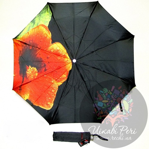 Зонт-автомат Doppler Лилия в 3 сложения на 8 спиц, фото