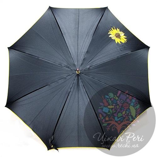 Зонт-трость Doppler Подсолнух в 3 сложения на 8 спиц автомат, фото