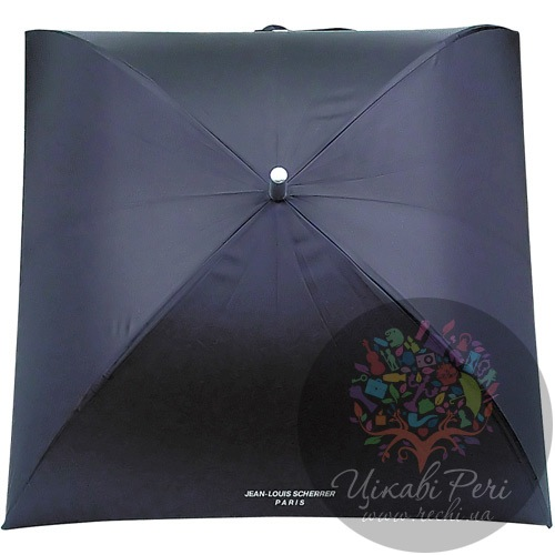 Зонт-трость Jean-Louis Scherrer «Silver Square» черный, фото