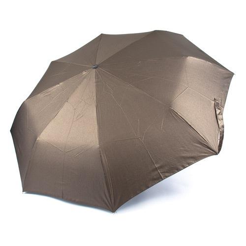 Женский автоматический зонт Три Слона коричневый, фото