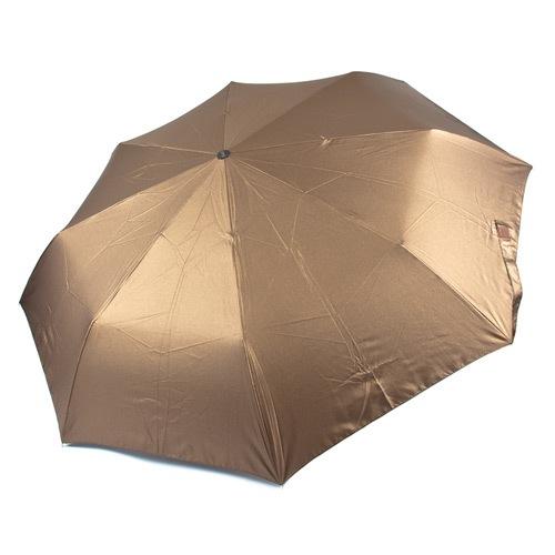 Женский зонт автоматический Три Слона коричневый, фото