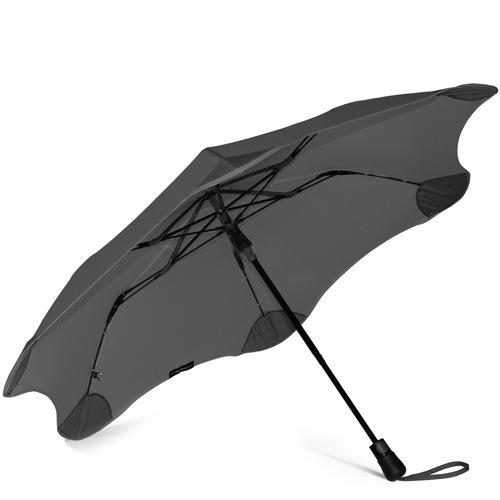 Зонт Blunt XS Metro темно-серый полуавтоматический в два сложения, фото