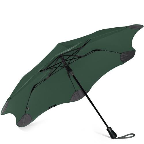 Зонт Blunt XS Metro темно-зеленый полуавтоматический в два сложения, фото