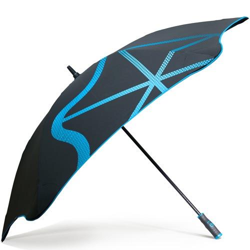 Зонт-трость Blunt Golf G1 черно-голубой с большим куполом, фото