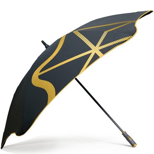Зонт-трость Blunt Golf G1 черно-желтый с большим куполом, фото