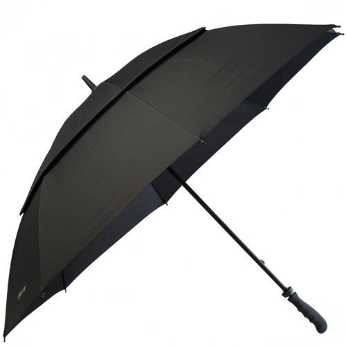 Зонт-трость Cerruti 1881 черный с большим куполом и оригинальной ручкой, фото