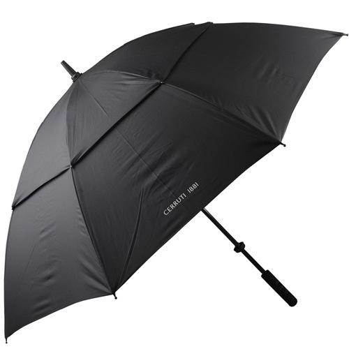 Зонт-трость Cerruti 1881 с большим черным куполом, фото