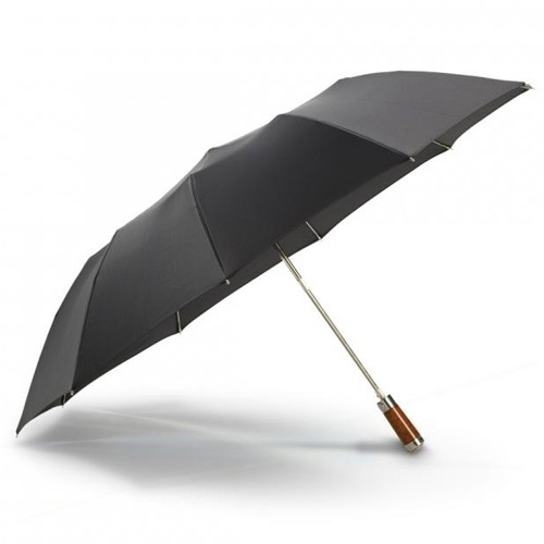 Зонт-полуавтомат Dalvey Folding черного цвета, фото