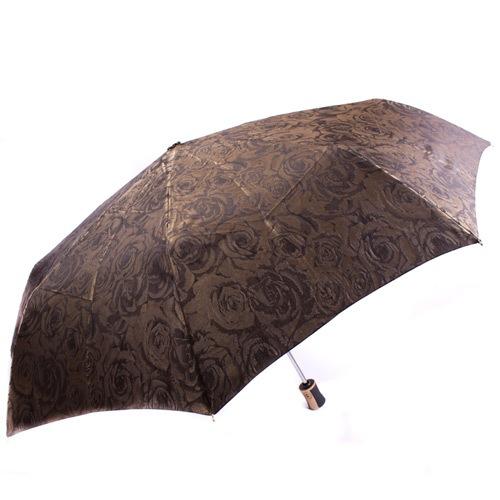 Красивый женский зонт автоматический Три Слона коричневый, фото