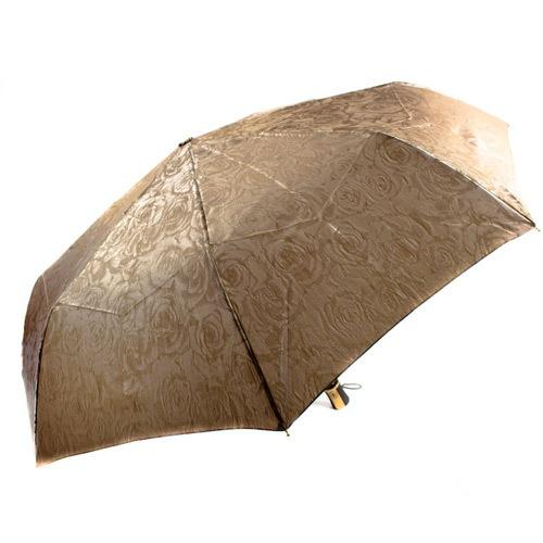 Красивый женский зонт автоматический Три Слона светло-коричневый, фото