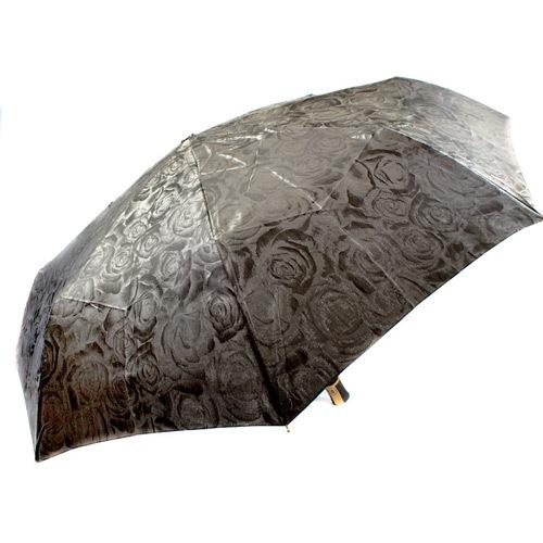 Красивый женский зонт автоматический Три Слона серый с переливом, фото