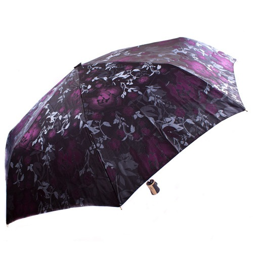 Яркий женский зонт автоматический Три Слона с узорами цветов, фото