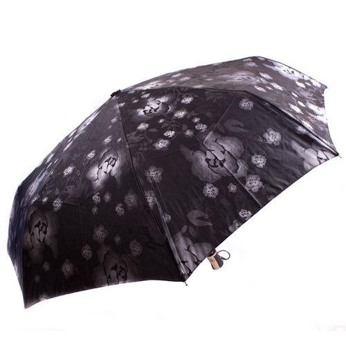Яркий женский зонт автоматический Три Слона черный, фото