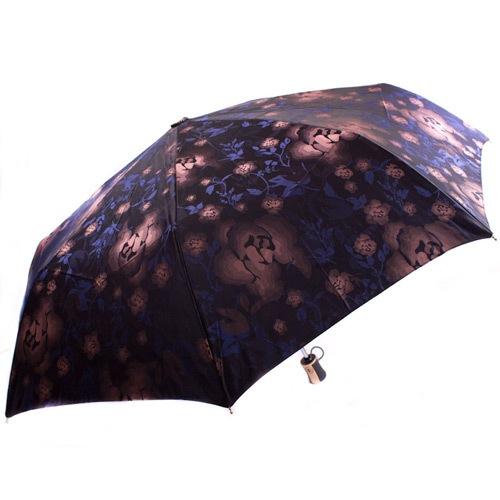 Яркий женский зонт автоматический Три Слона сиреневый черный-синий, фото