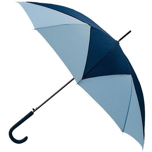 Большой полуавтоматический зонт Ferre трость с геометрическим сине-голубым узором, фото