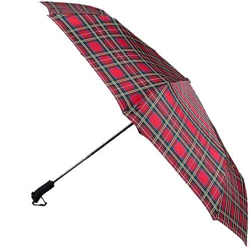 Большой красный клетчатый зонт Ferre с автоматическим механизмом, фото