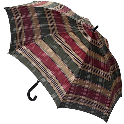 Большой мужской зонт-трость Ferre в крупную клетку с укрепленным каркасом и куполом, фото