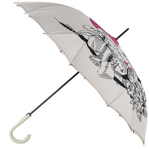 Дизайнерский зонт-трость Ferre с прочным полуавтоматичеким механизмом, фото