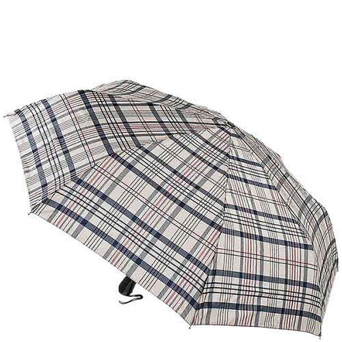 Большой классический зонт Ferre в серую клетку с автоматическим механизмом, фото