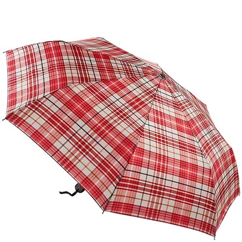 Большой красный зонт Ferre в клетку с автоматическим механизмом, фото