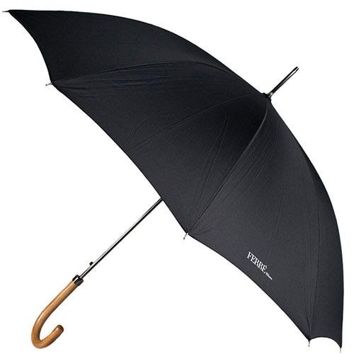 Большой зонт-трость Ferre на 10 спиц черного цвета, фото