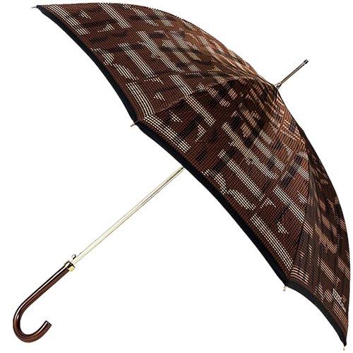 Переливающийся коричневый зонт-трость Ferre с полуавтоматическим режимом, фото