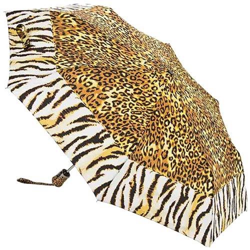 Автоматический зонт Ferre с леопардовым и тигровым принтом, фото