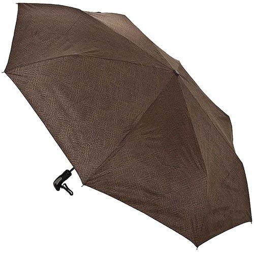 Зонт-автомат Ferre коричневого цвета с мелким принтом, фото