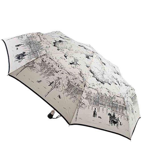 Светлый зонтик-полуавтомат Guy de Jean с художественными зарисовками, фото