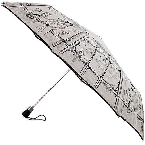 Полуавтоматический зонт Guy de Jean с набросками иллюстраций 19 века, фото