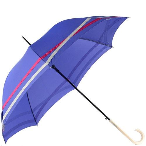 Зонт-трость Ferre автомат фиолетовый с полосками, фото