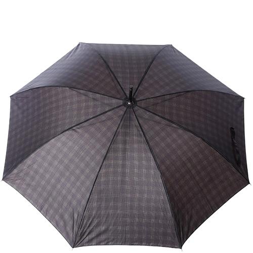 Зонт-трость Ferre GR-4 синий в клетку, фото