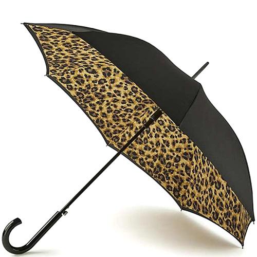 Зонт-трость Fulton Bloomsbury-2 Lynx с животным принтом, фото