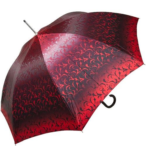 Зонт-трость Doppler SATIN автомат в красных тонах с роскошным ажурным орнаментом, фото