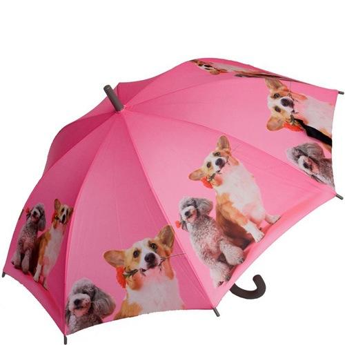 Зонт-трость Doppler полуавтоматический детский с фотографиями собак, фото