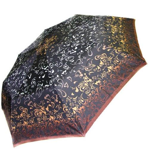 Зонт-полуавтомат Doppler женский 73016518 узорный в коричнево-бежевых оттенках, фото