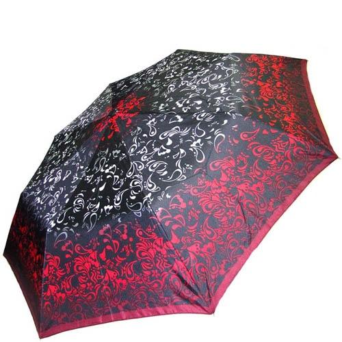 Зонт-полуавтомат Doppler женский 73016518 узорный в красно-черных тонах, фото