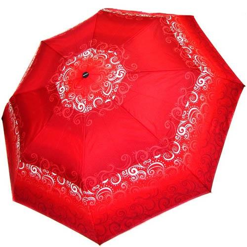 Зонт-полуавтомат Doppler женский 73016519 красного цвета с белыми узорами, фото