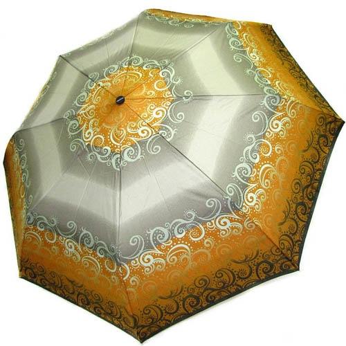 Зонт-полуавтомат Doppler женский 73016519 в серо-желтых тонах, фото