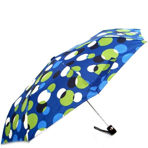 Зонт-полуавтомат Doppler Carbon антиветер в 3 сложения синий в разноцветный горох, фото