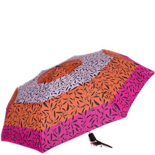 Зонт-полуатомат Doppler женский 730165G17 узорный розовый с оранжевым, фото