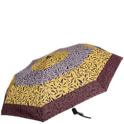 Зонт-полуатомат Doppler женский 730165G17 узорный коричневый с оранжевым, фото