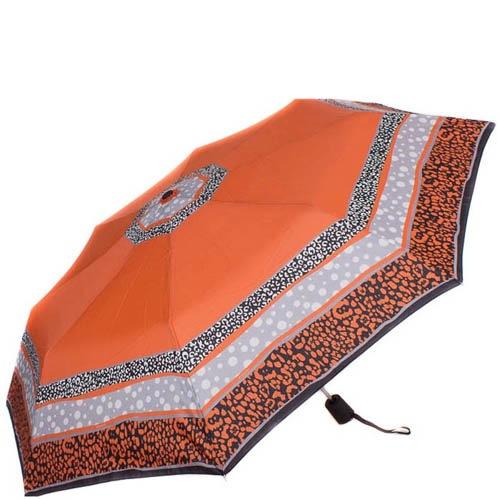 Зонт-полуатомат Doppler женский 730165G17 оранжевого цвета с точечным узором, фото